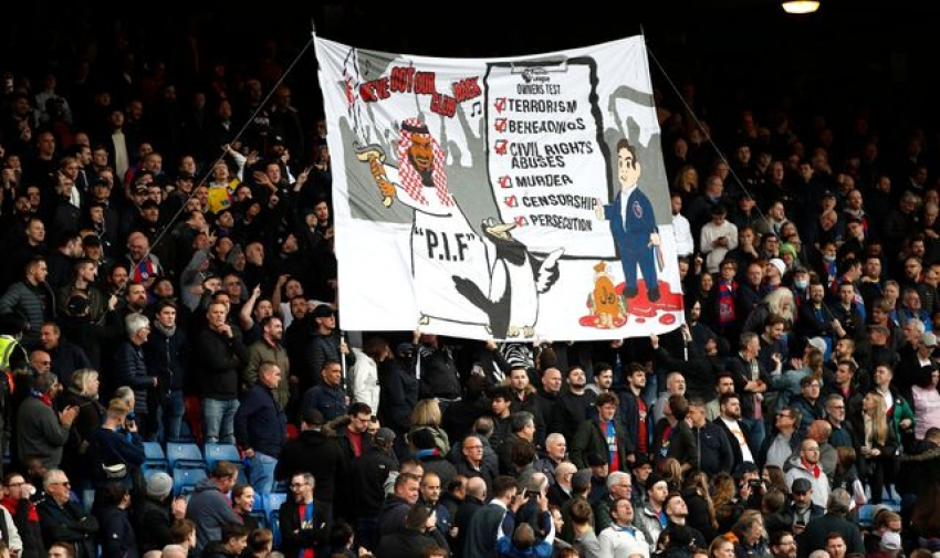 Newcastle United takeover: No further action over Crystal Palace fans' banner criticising Magpies' new owners, police say